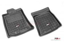 Floor Liners, Front, Black : 07-11 Toyota FJ Cruiser